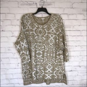 Cato Tunic Sweater with 3/4 Sleeves